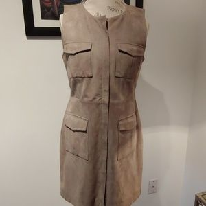 REAL SUEDE DRESS WITH ZIPPER